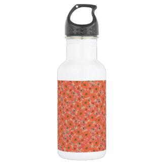 Warm Orange Flower Confetti Water Bottle