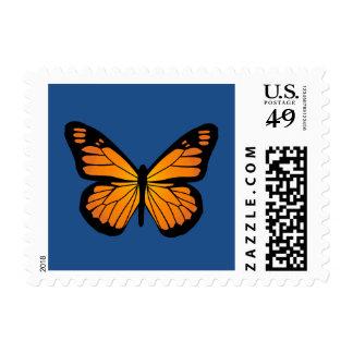 Warm Orange Glow Butterfly Stamp