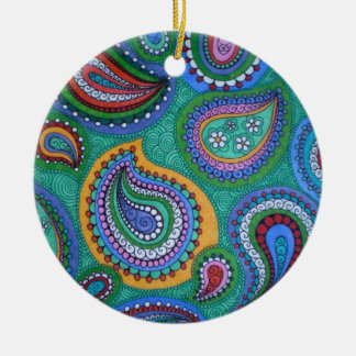 Warm Paisley Ornament
