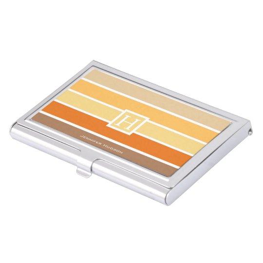 warm pastel autumn color palette personalized business card case - Personalized Business Card Case