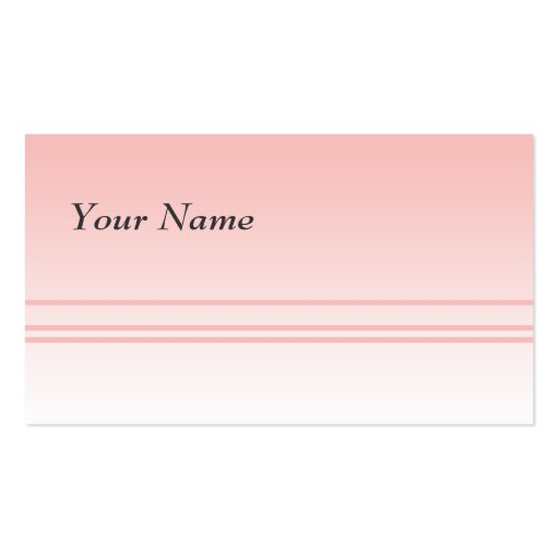 Warm Pink. Simple Elegant Design Business Card Template ...