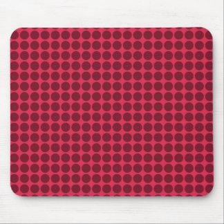 Warm polka dots, amaranth and claret mouse pad