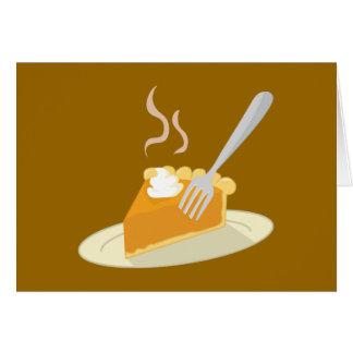 Warm Pumpkin Pie Card