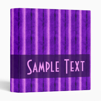 Warm Purple Grunge Stripes 3 Ring Binder