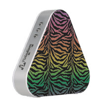 Warm Rainbow Tiger Animal Print Speaker