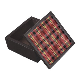 Warm Red Plaid Jewelry/Trinket Box for Him Premium Gift Box