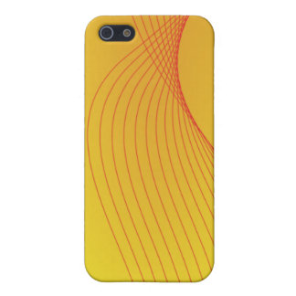 Warm Red & Yellow abstract style iphone case