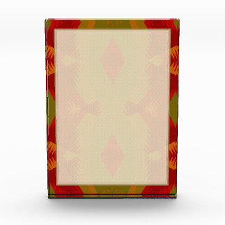 Warm Retro Pattern in Olive Gold Red Acrylic Award