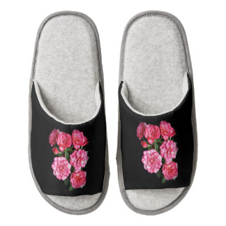 Warm Rose Slippers Pair Of Open Toe Slippers