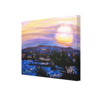 Warm Seas Sunset Canvas Print