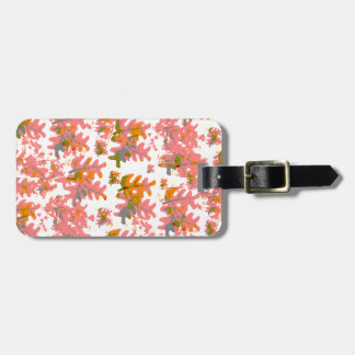 Warm Shades of Orange Fall Colored Leaves Pattern Bag Tag
