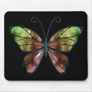 Warm Shades Rainbow Wings Butterfly Mouse Pad