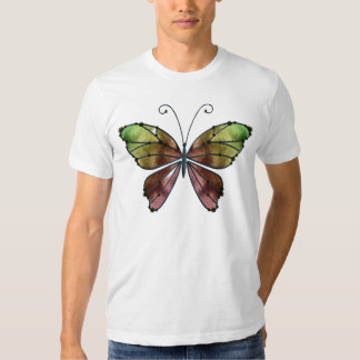 Warm Shades Rainbow Wings Butterfly T-shirt