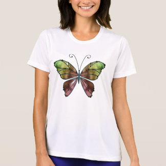 Warm Shades Rainbow Wings Butterfly Tee Shirt