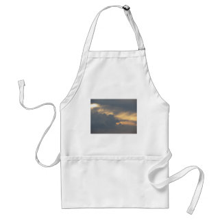 Warm sky with giants cumulonimbus clouds at sunset adult apron