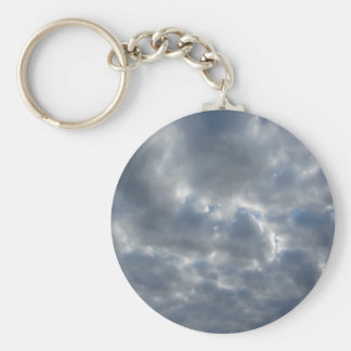 Warm sky with giants cumulonimbus clouds at sunset keychain