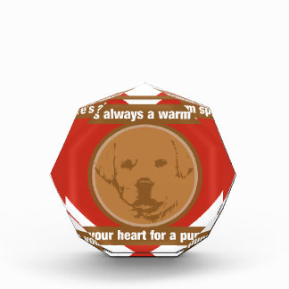 Warm Space In Your Heart For A Puppy Acrylic Award