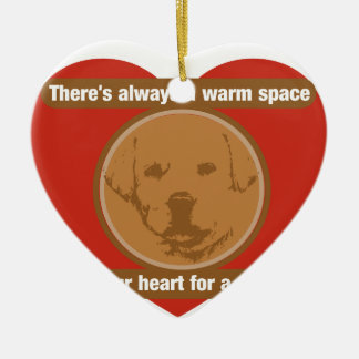 Warm Space In Your Heart For A Puppy Ceramic Ornament