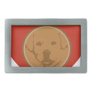 Warm Space In Your Heart For A Puppy Rectangular Belt Buckle
