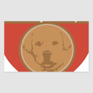 Warm Space In Your Heart For A Puppy Rectangular Sticker