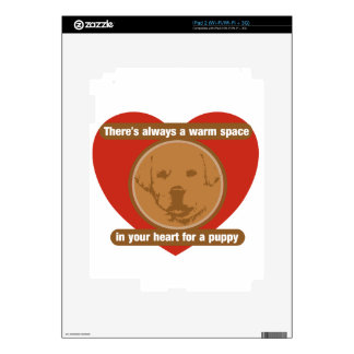 Warm Space In Your Heart For A Puppy Skin For The iPad 2