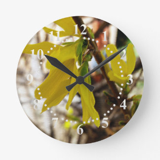 warm spring colors round clock
