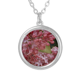Warm Spring Lilacs Silver Plated Necklace