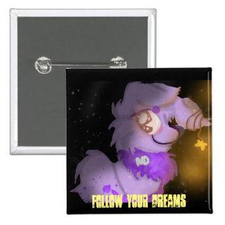 Warm Starglow 'Follow your dreams' Button