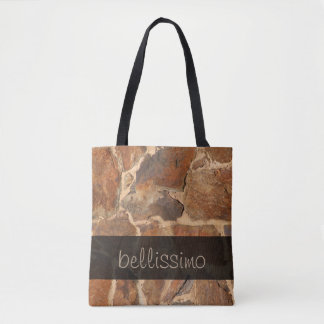 Warm Stone Wall Structure Photo any Text Tote Bag