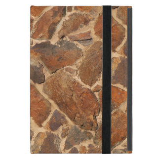 Warm Stonewall Pattern Golden Case For iPad Mini