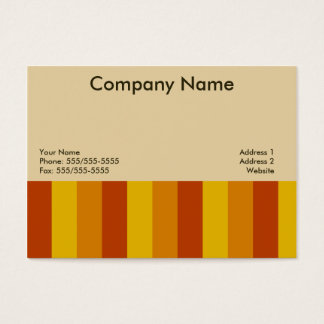 Warm Stripes Business Cards