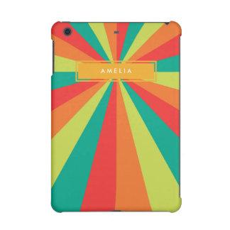 Warm Summer Personalized Name Color Wheel iPad Mini Case