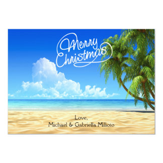 Warm Sunny Beach Christmas Card