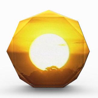 Warm Sunset Golden Horizons Acrylic Award