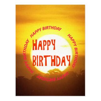 Sunset Happy Birthday Postcards | Zazzle