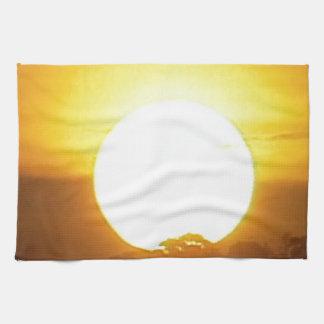 Warm Sunset Golden Horizons Kitchen Towels