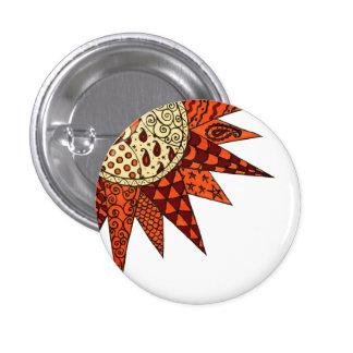 Warm Sunshine - Hippie Art Button Badge