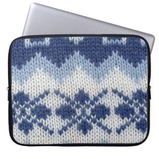 Warm sweater - Blue Computer Sleeve