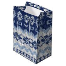 Warm sweater case - Blue Medium Gift Bag