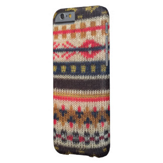 Warm Sweater Pattern Red Blue iPhone 6/6s Barely There iPhone 6 Case