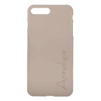 Warm Taupe Light Brown Tan Solid Color Custom iPhone 8 Plus/7 Plus Case