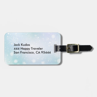 Warm Teal and Purple  Winter Wonderland Snowflakes Luggage Tag
