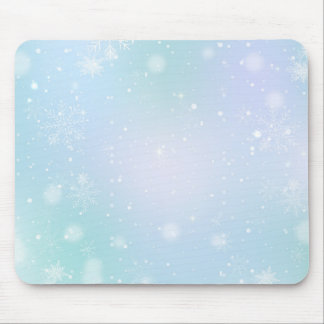 Warm Teal and Purple  Winter Wonderland Snowflakes Mouse Pad