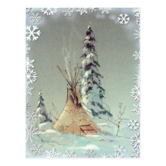 WARM TIPI & SNOWFLAKES by SHARON SHARPE Post Cards