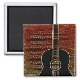 Warm Tones 2 Inch Square Magnet