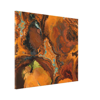 Warm Tones Archaeology Abstract Canvas Art Print
