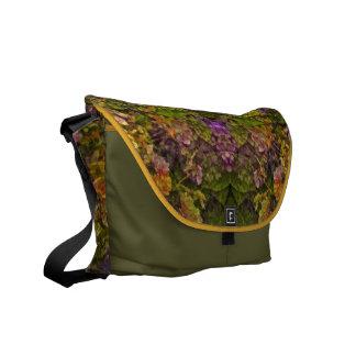 Warm Tones Floral Fantasy Allover-Pattern Messenge Courier Bag