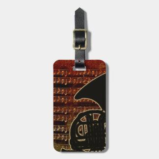 Warm Tones French Horn ID280 Luggage Tag