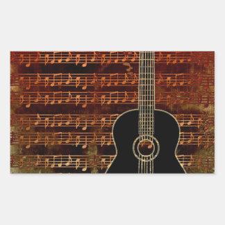 Warm Tones Guitar ID280 Rectangular Sticker