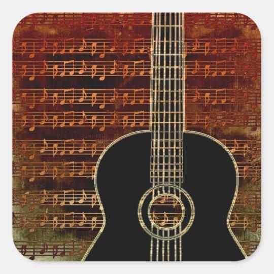 Warm Tones Guitar ID280 Square Sticker